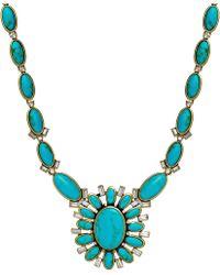 Lauren by Ralph Lauren Gold-tone Turquoise Navajo Pendant Necklace - Lyst