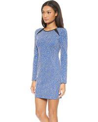 Shoshanna Brooklyn Mini Dress Sapphire - Lyst