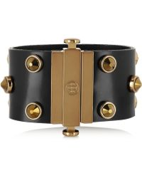 Tory Burch - Theophile Crystal-Embellished Leather Bracelet - Lyst
