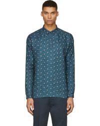 Visvim Indigo Kerchief Tunic Shirt - Lyst
