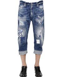 DSquared2 20cm Big Dean Pink Paint Wash Jeans - Lyst