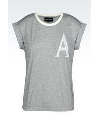 Emporio Armani T-Shirt In Soft Jersey - Lyst