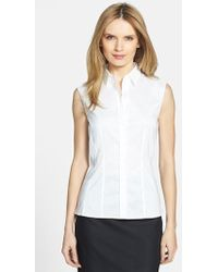 Boss by Hugo Boss 'Bashiva' Sleeveless Poplin Shirt - Lyst