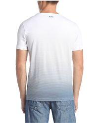 BOSS Green Cotton T-shirt With Logo Print: 'tee 5' - Blue