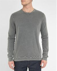 American Vintage | Grey Acid Washed Sweatshirt | Lyst