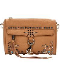 Rebecca Minkoff Almond Leather Embellished 'Mini Mac' Shoulder Bag - Lyst