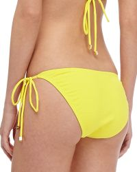 Shoshanna Textured Tie-side Swim Bottom - Lyst