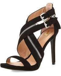 Vince Camuto Signature Shalona Suede Ankle-wrap Pump - Black