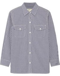 Current/Elliott The Perfect Checked Cotton Shirt - Lyst