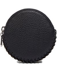 Paco Rabanne Women's Round Leather Chain Purse In Black