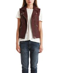 IRO Mert Leather Vest - Lyst