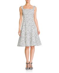 Dolce & Gabbana Poplin Dot-Print Dress white - Lyst