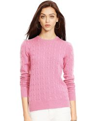 Ralph Lauren Cable-Knit Cashmere Sweater - Lyst