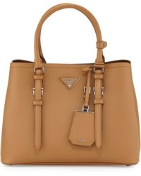 e2d0c4d82f8e9e Prada - Saffiano Cuir Covered-Strap Double Bag - Lyst