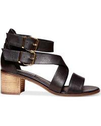 Steve Madden Women'S Rosana Block Heel City Sandals - Lyst