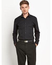 Calvin Klein Stretch Long Sleeve Shirt - Lyst
