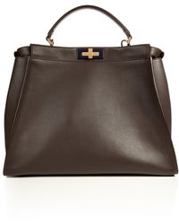 Fendi Leather Peek-a-boo Satchel with Shoulder Strap - Lyst