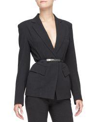 Donna Karan New York Fitted Two-pocket Blazer - Lyst