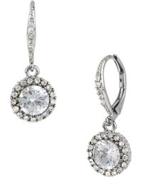 Betsey Johnson Pave Crystal Drop Earrings - Metallic