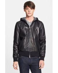 Rag & Bone Men'S 'Christopher' Leather Hooded Bomber Jacket - Lyst