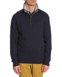Tommy Hilfiger Blue Trucker Sweater - Lyst