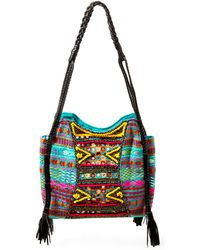 Big Buddha | Briella Embroidered Hobo Bag | Lyst