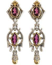 Konstantino Silver  18k Gold Rhodolite Dangle Earrings - Lyst