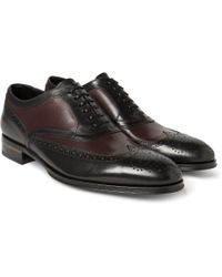 Alexander McQueen Two-tone Leather Oxford Brogues - Lyst