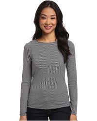 MICHAEL Michael Kors Long Sleeve Cowl Back Top - Lyst
