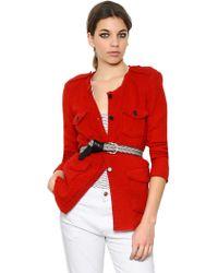 Etoile Isabel Marant Wool Blend Flannel Jacket - Lyst