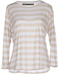 Enza Costa T-Shirt beige - Lyst