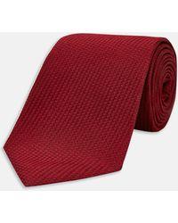 Turnbull & Asser | Burgundy Lace Silk Tie | Lyst
