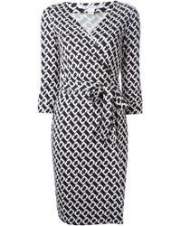 Diane von Furstenberg Chain Link Print Wrap Dress - Lyst