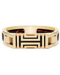Tory Burch - For Fitbit Resin-inlay Hinged Bracelet - Lyst