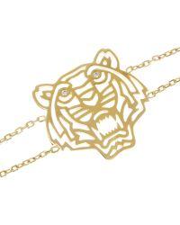 KENZO - Tiger Goldplated Cubic Zirconia Bracelet - Lyst