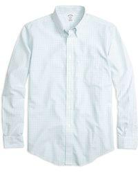 Brooks Brothers Non-Iron Brookscool® Madison Fit Tattersall Sport Shirt - Lyst
