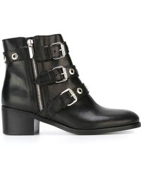Diesel Black Gold | Buckled Ankle Boots | Lyst