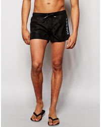 Diesel Side Logo Swim Shorts - Lyst