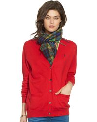 Polo Ralph Lauren Long-Sleeve V-Neck Cardigan - Lyst
