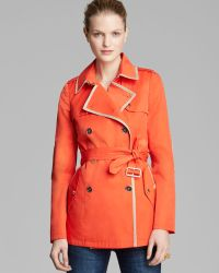 Sam Edelman - Trench Coat Lydia Belted with Piping - Lyst