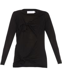 Marques'Almeida   Slashed-knotted Long-sleeved Top   Lyst