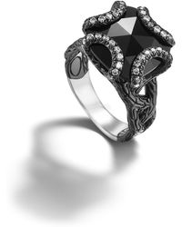 John Hardy Medium Braided Ring with Black Ruthenium Plating - Lyst