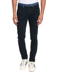 Ikks Marine Belted Jeans blue - Lyst