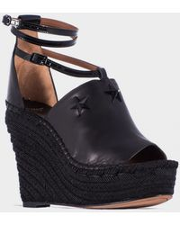 Givenchy Black Leather And Rope Espadrillas black - Lyst