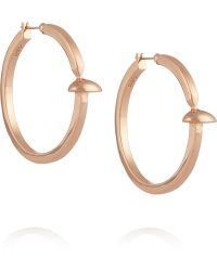 Giles & Brother Rose Gold-plated Earrings - Lyst