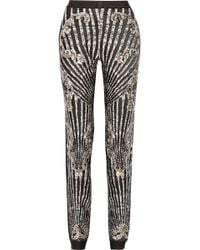 Hervé Léger Studded Bandage Tapered Pants - Lyst