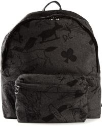 Carven Gray Printed Backpack - Lyst