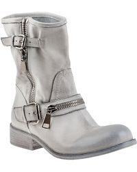 275 Central 1887 Biker Boot Distressed White Leather - Lyst