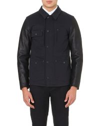 OAMC Director Leather-sleeved Jacket - Lyst
