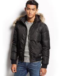 Guess Faux Fur Hood Jacket - Lyst